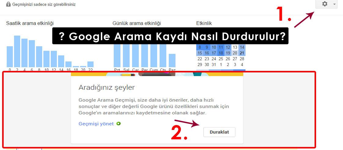 Google Arama Kaydı Nasıl Durdurulur?