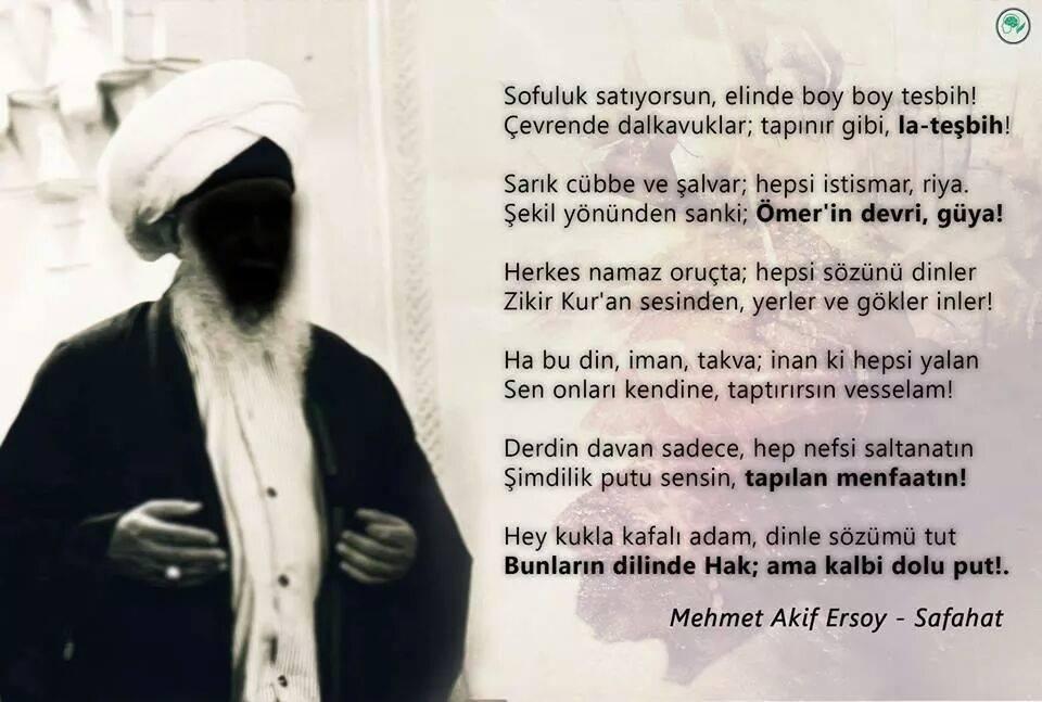 Mehmet Akif Ersoy - Sofuluk Şiiri